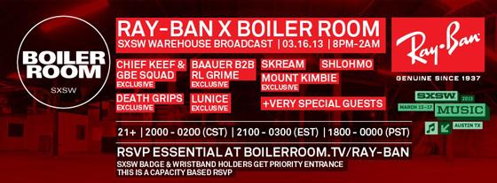 ray ban x boiler room sxsw rsvp