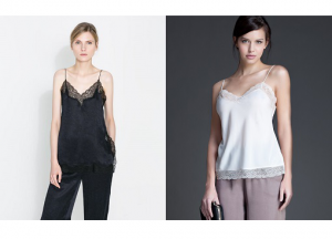 Camisetas lenceras @ Zara y Woman Secret